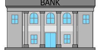 銀行の建物の図 大きな銀行
